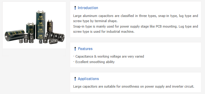 Samwha Electric Aluminum E-Cap  3