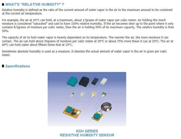Sangshin Elecom HumidIty Sensor