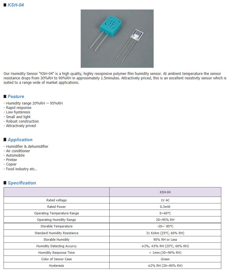Sangshin Elecom HumidIty Sensor  3