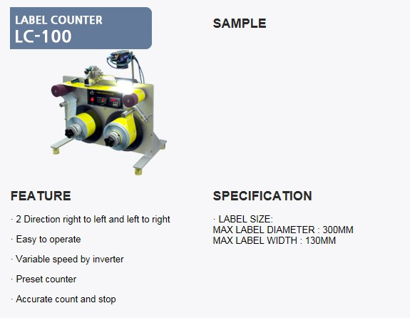 SANHO MACHINERY Label Counter LD-100