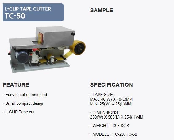 SANHO MACHINERY L-Clip Tape Cutter TC-50