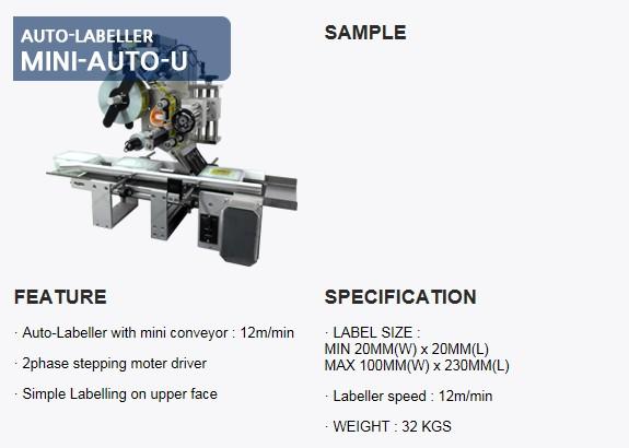 SANHO MACHINERY Auto-Labeller MINI-AUTO-U