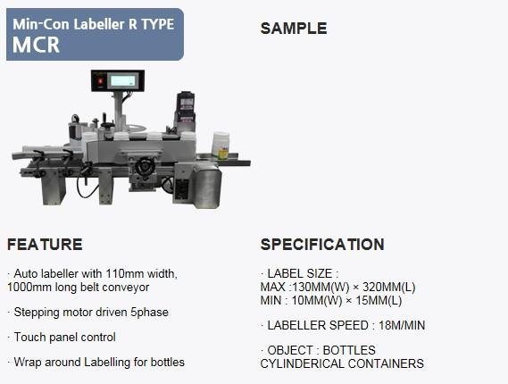 SANHO MACHINERY Min-Con Labeller R Type MCR