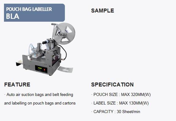 SANHO MACHINERY Pouch Bag Labeller BLA