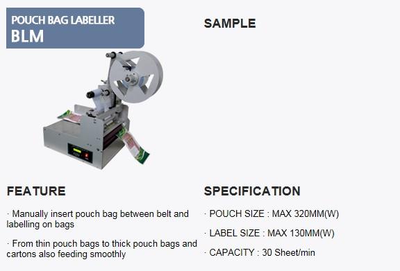 SANHO MACHINERY Pouch Bag Labeller BLM