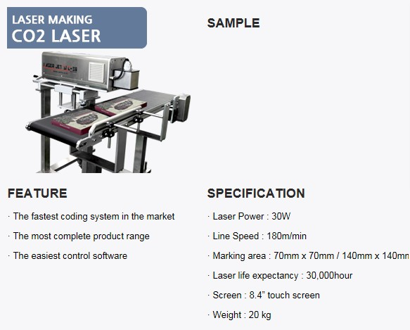 SANHO MACHINERY CO2 Laser
