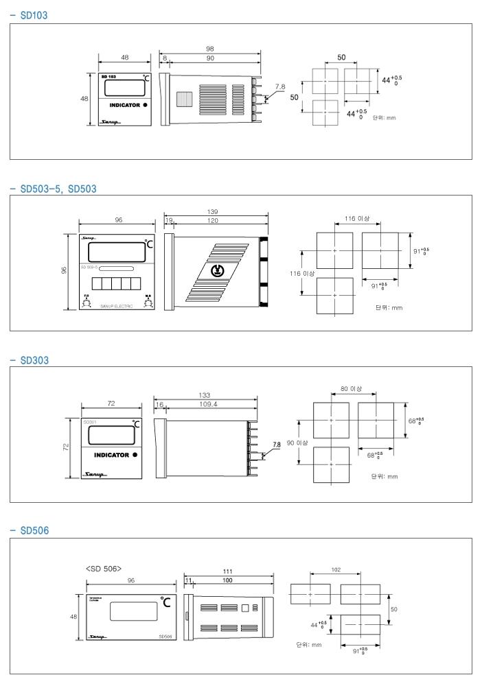 SANUP ELECTRIC Digital Temp. Indicator SD Series 2