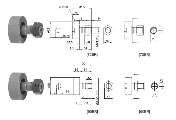 SBC LINEAR Roller bearing