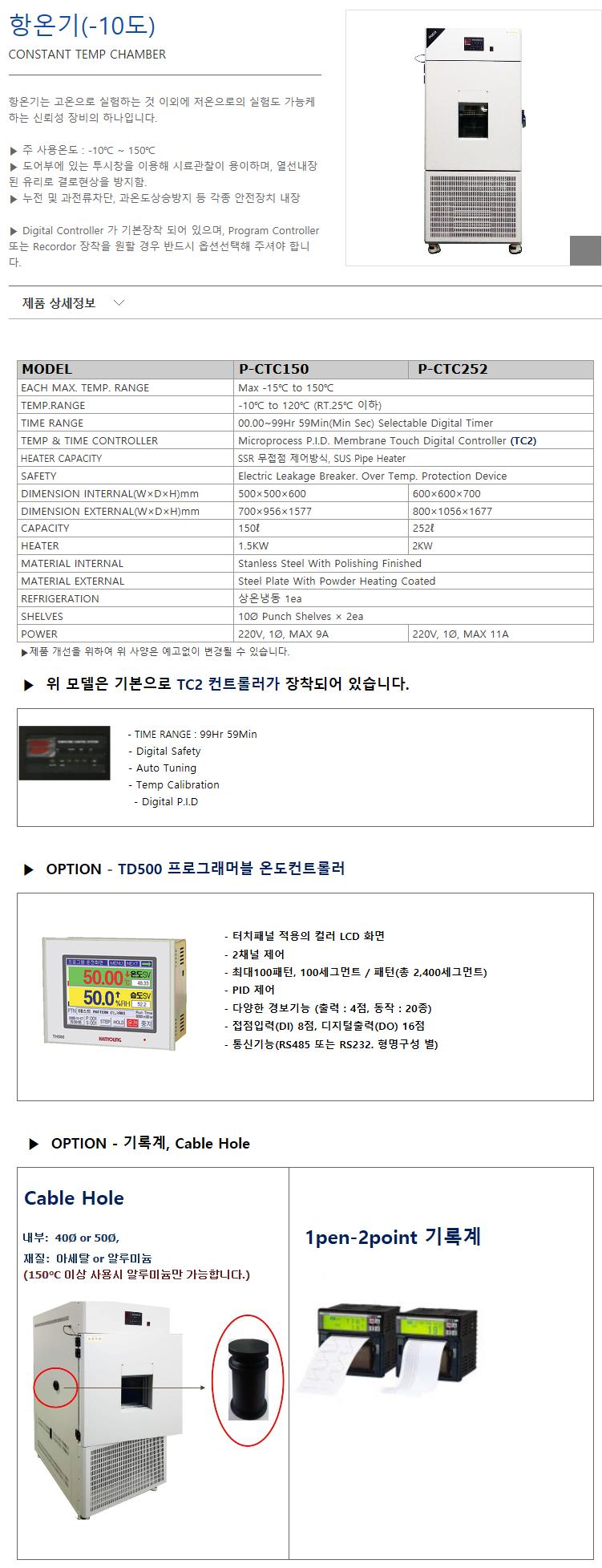 (주)에스씨이엔지 -10℃ P-CTC150/CTC252