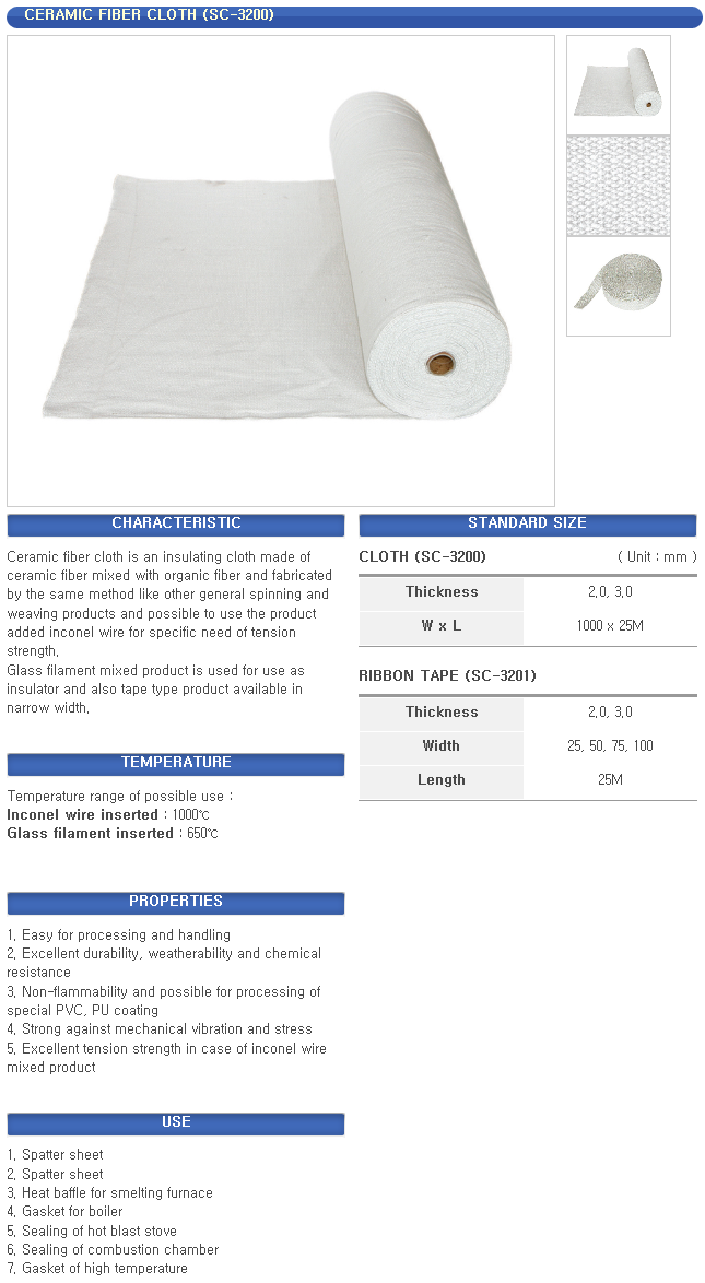 Sung Chang - Textile for high temperature and insulation