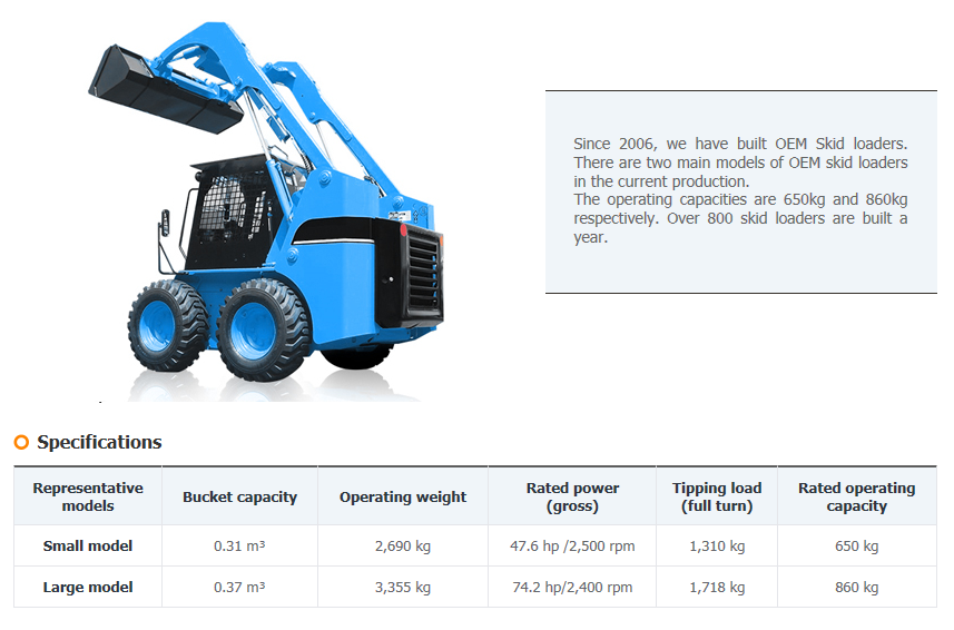 SE-AN PRECISION MACHINERY OEM : Skid Loaders
