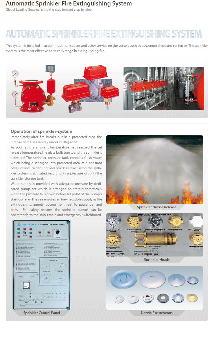 Seaplus Automatic Sprinkler Fire Extinguishing System