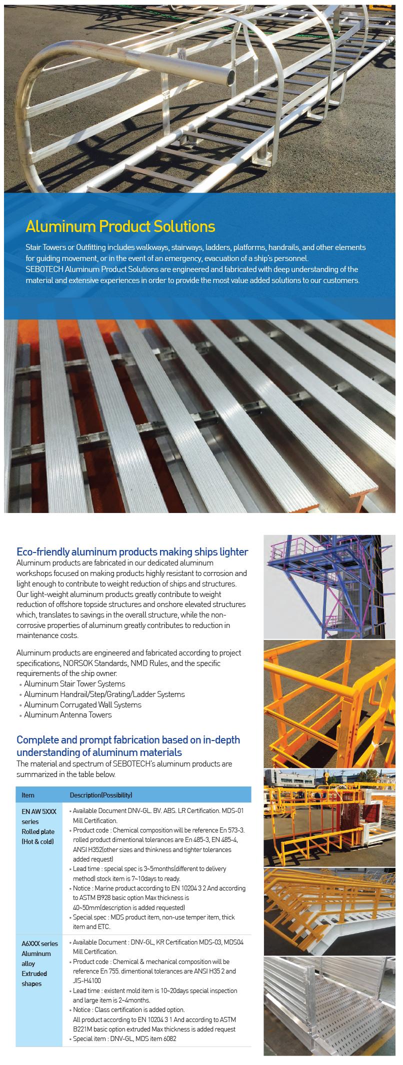SEBOTECH Aluminum Product Solutions