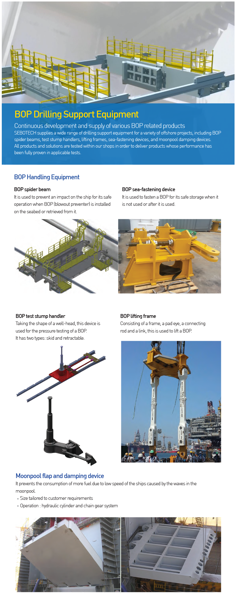 SEBOTECH BOP Drilling Support Equipment