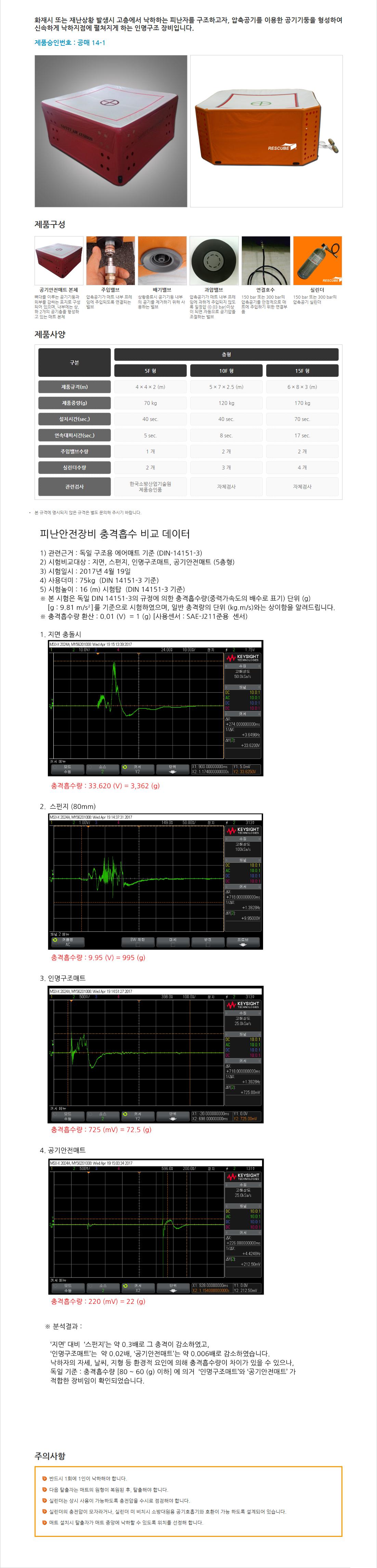 (주)서한에프앤씨 실린더식 공기안전매트  1