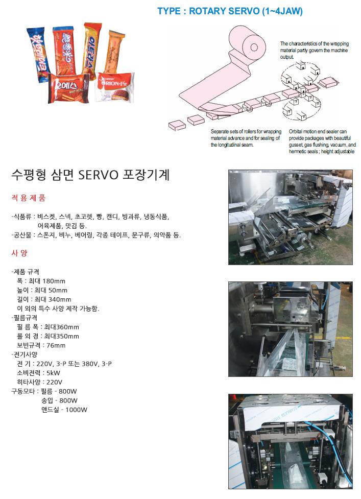 (주)소마 수평형 삼면 SERVO 포장기계 SM-S220S 1