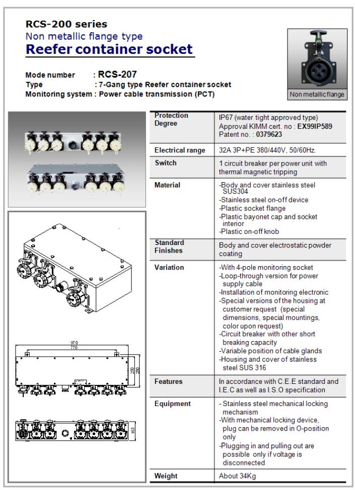 SEUN Non Metallic Flange Type RCS-207