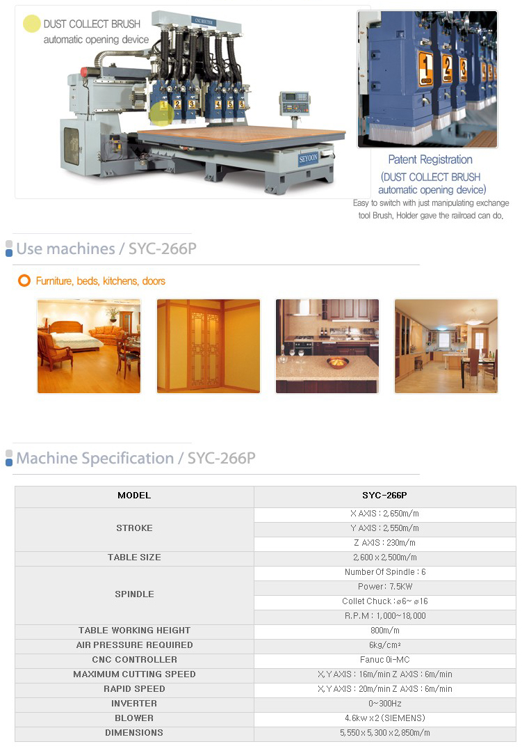 SEYOON NST CNC Router SYC-266P
