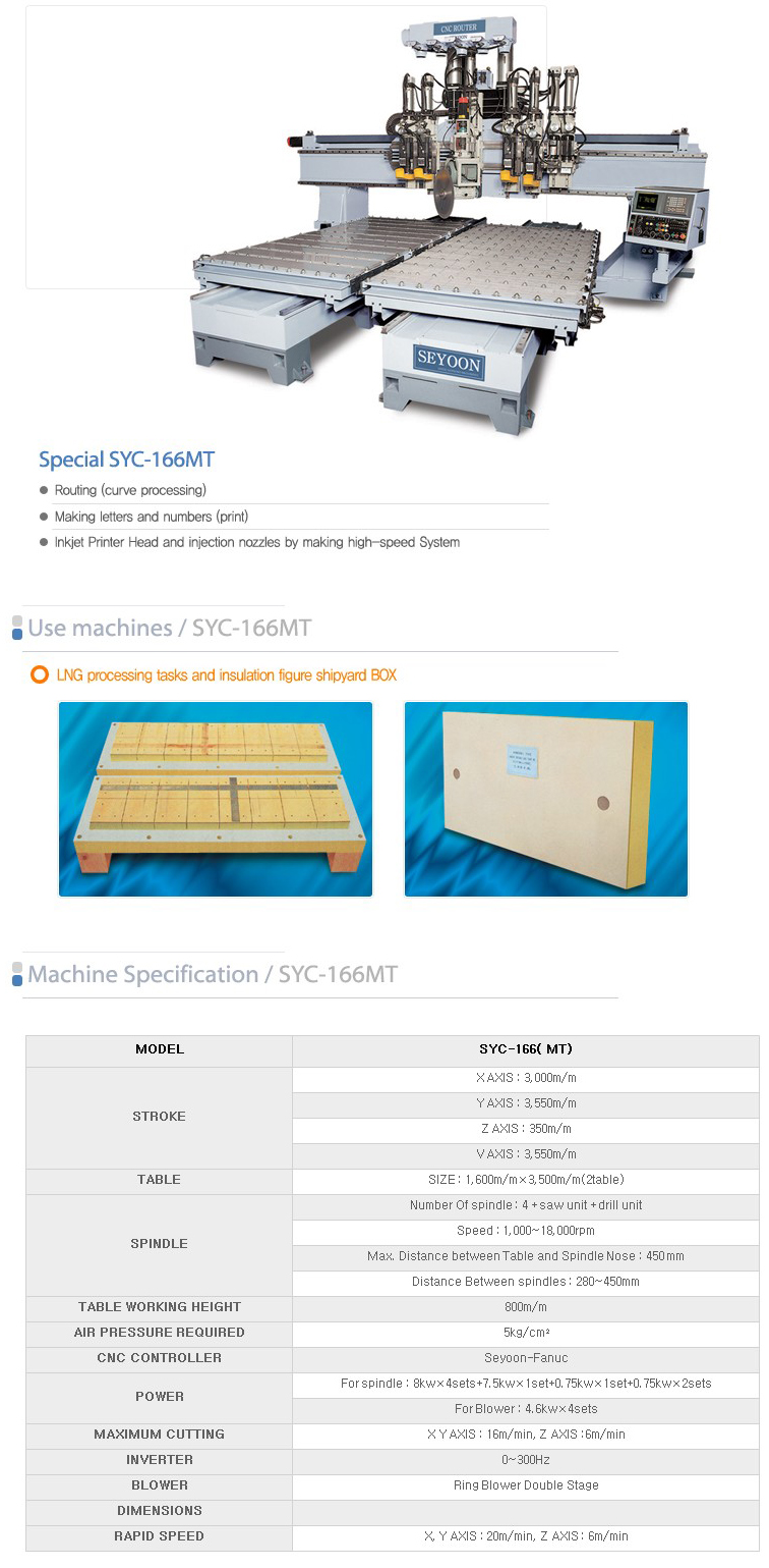 SEYOON NST CNC Multi Router SYC-166MT