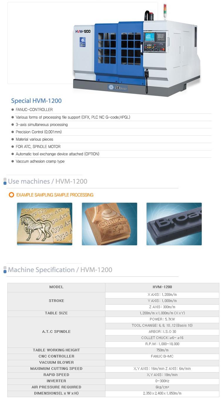SEYOON NST CNC / A.T.C Router (Engraving M/C) HVM-1200