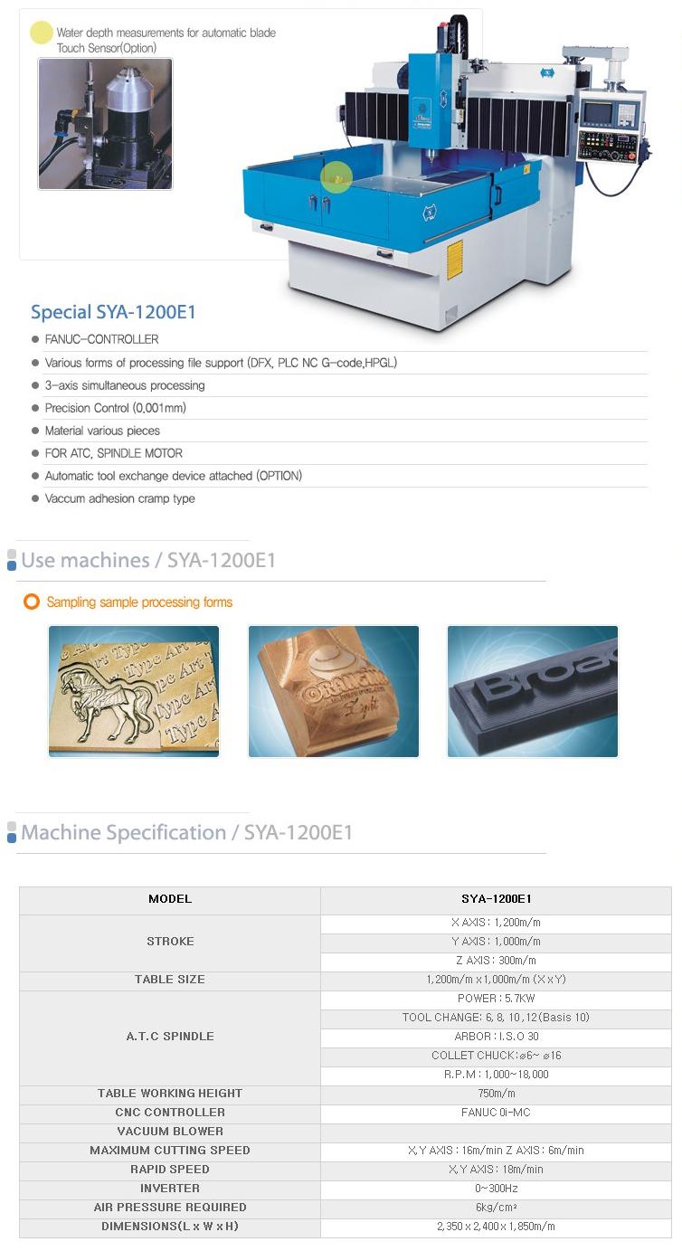 SEYOON NST CNC / A.T.C Router (Engraving M/C) SYA-1200E1