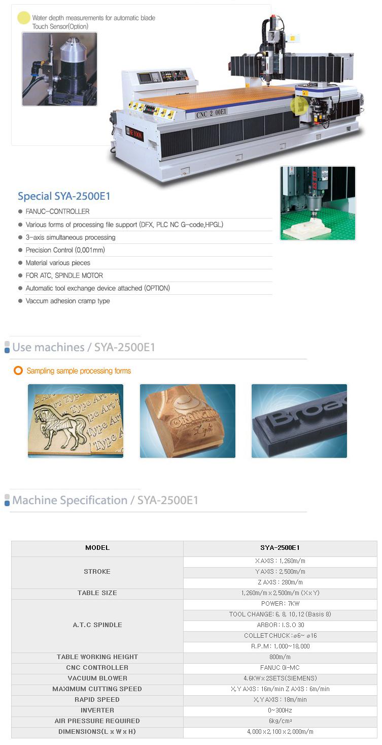 SEYOON NST CNC / A.T.C Router (Engraving M/C) SYA-2500E1