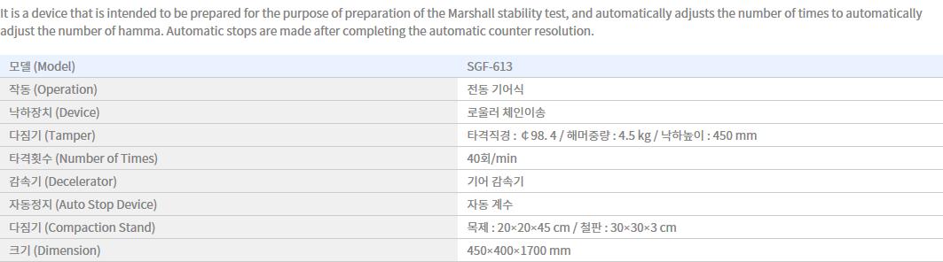 Shin Gang Precision Automatic Asphalt Compactor SGF-613