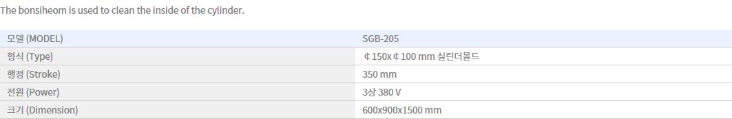 Shin Gang Precision Concrete Cylinder Mold Washer SGB-205