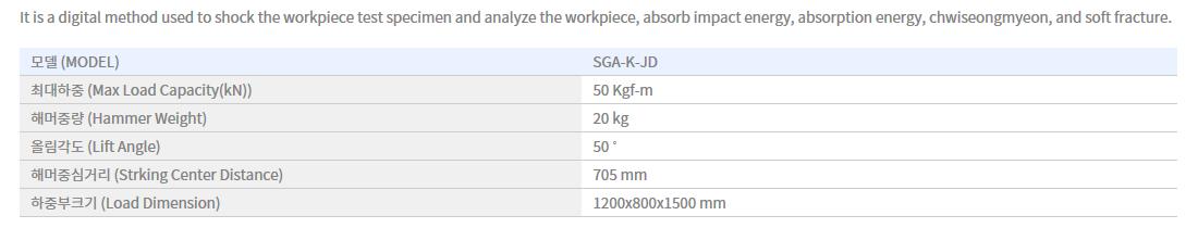 Shin Gang Precision Impact Tester SGA-K-JD