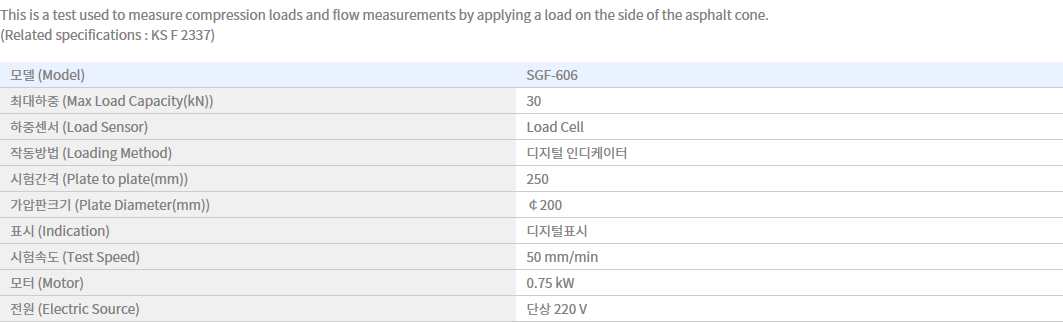 Shin Gang Precision Asphalt Marshall Compression Tester SGF-606