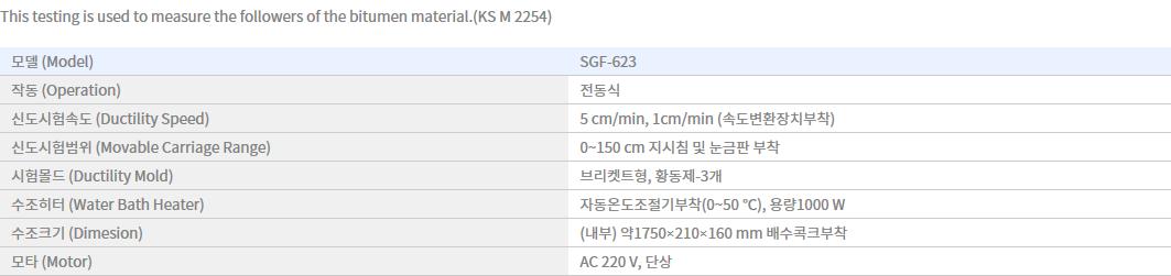 Shin Gang Precision Ductility Testing Machine SGF-623