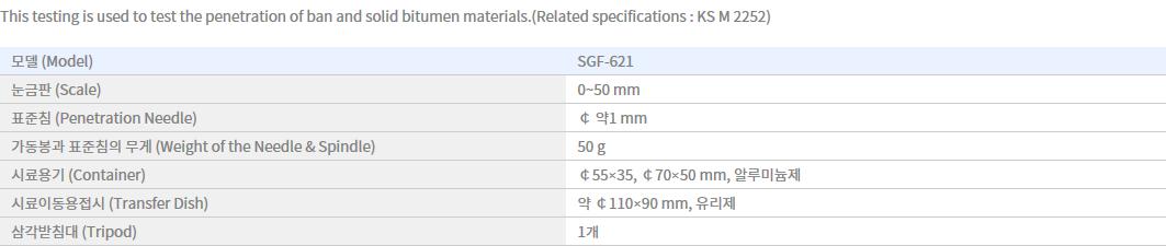 Shin Gang Precision Asphalt Penetrometer SGF-621