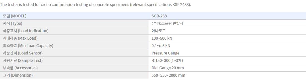 Shin Gang Precision Compressive Creep Tester SGB-238