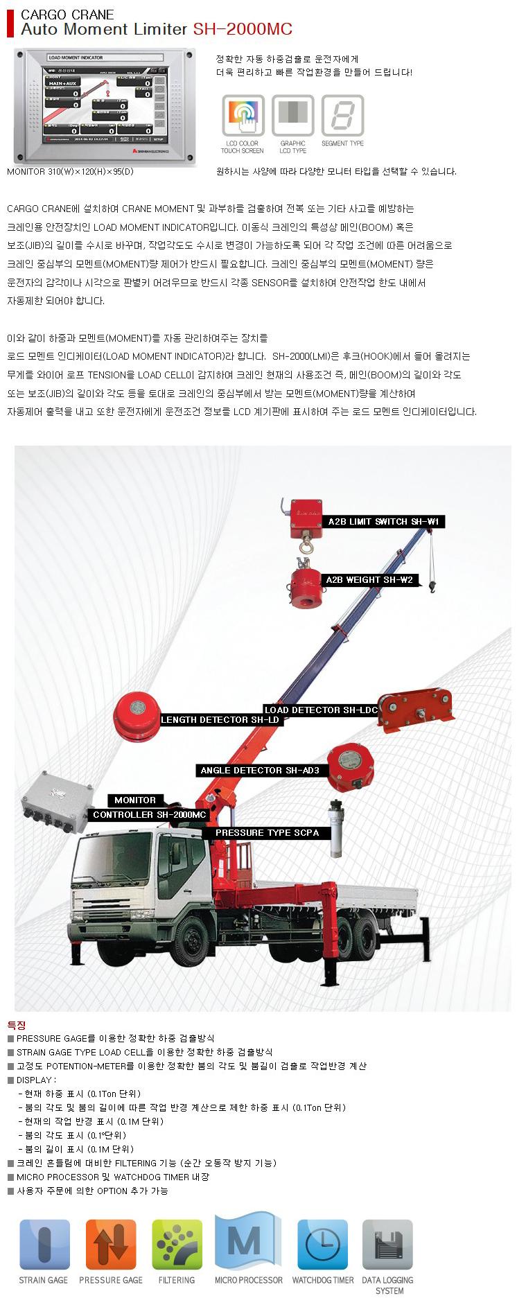 (주)신한전자기기 카고 크레인용 SH-2000MC 1