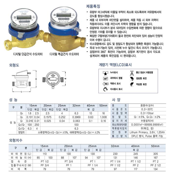 신한정밀 디지털 단갑/복갑, 건식