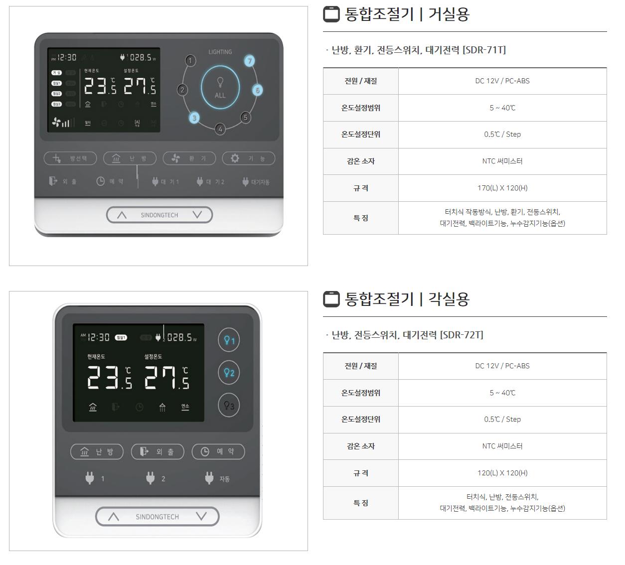 신동테크 온도조절기 SDR-Series