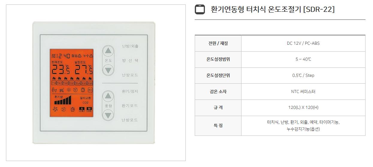 신동테크 온도조절기 SDR-Series 2
