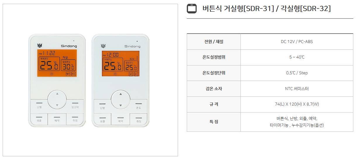 신동테크 온도조절기 SDR-Series 8