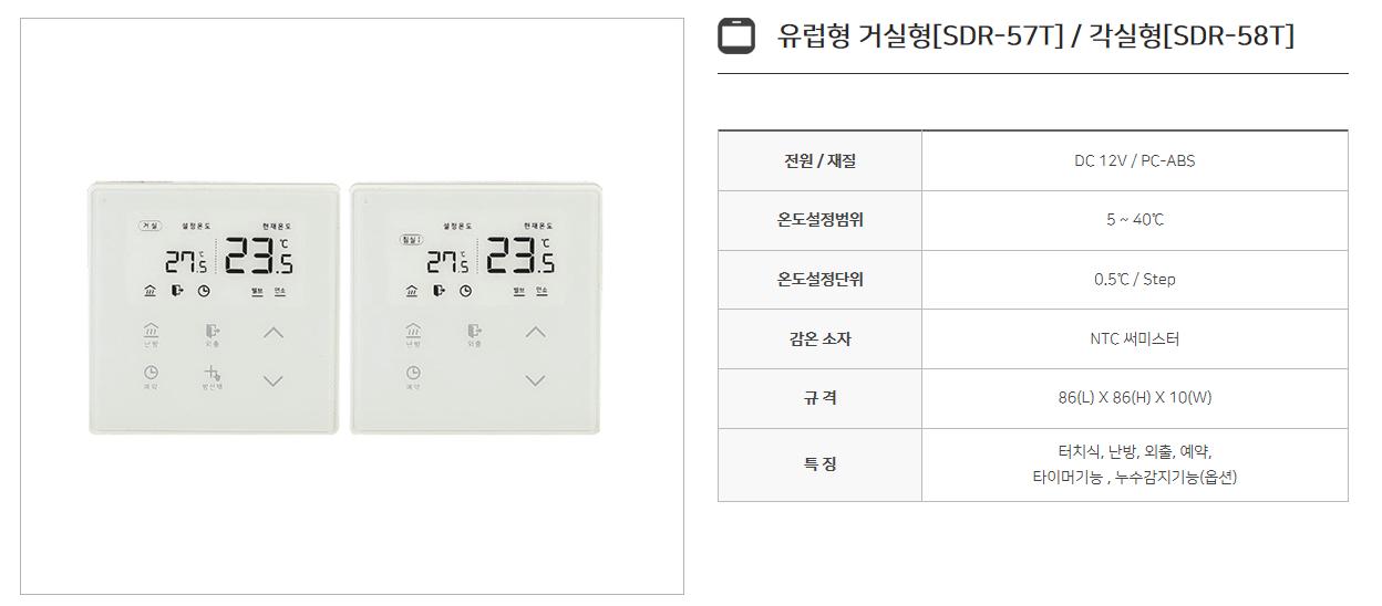 신동테크 온도조절기 SDR-Series 11