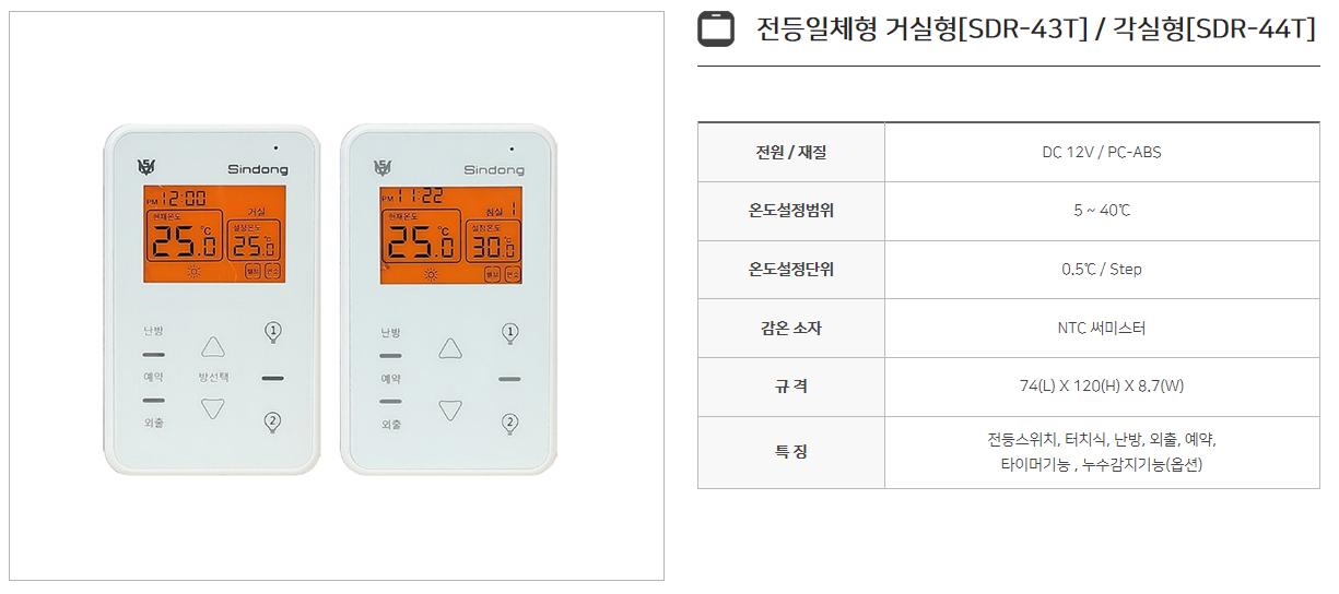 신동테크 온도조절기 SDR-Series 12