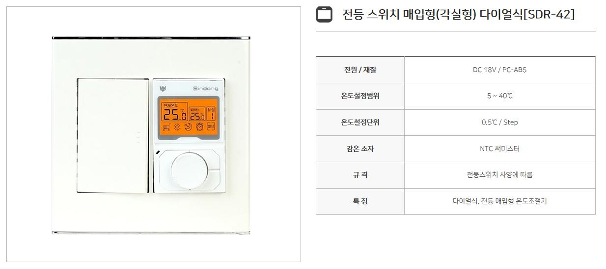 신동테크 온도조절기 SDR-Series 14
