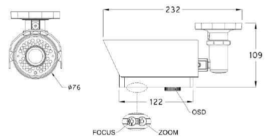 SJ Microtech Bullet Camera SJC44B83NAIT 1