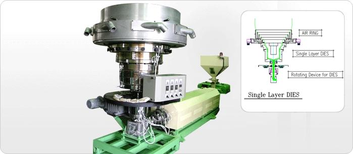 SHINKWANG ENGINEERING Single Layer Blown Film Manufacturing Line