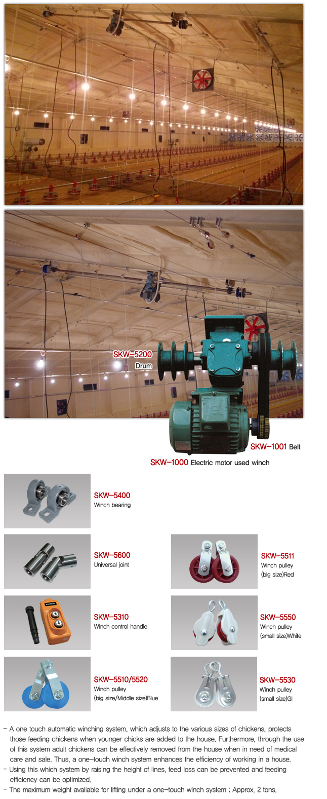 Sung Kwang System Automatic Winching System for Poultry Feeding Systems