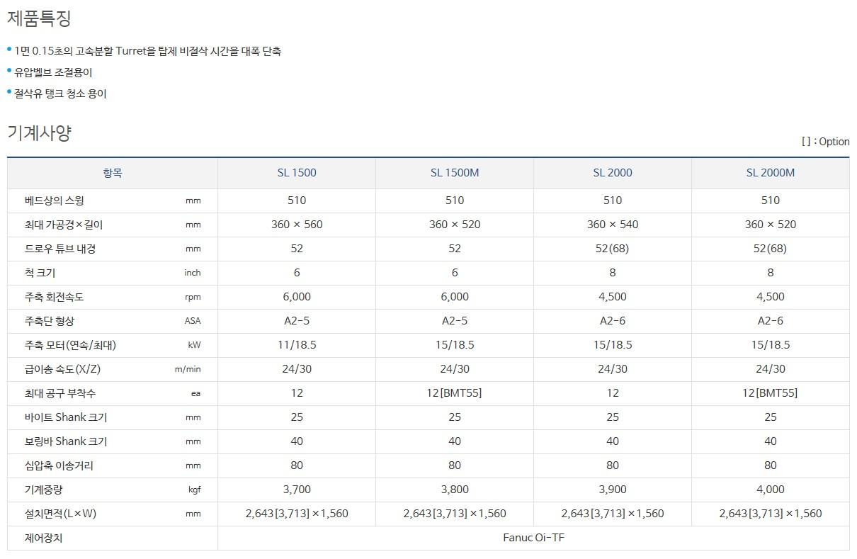 (주)스맥 CNC Lathe SL-Series 3