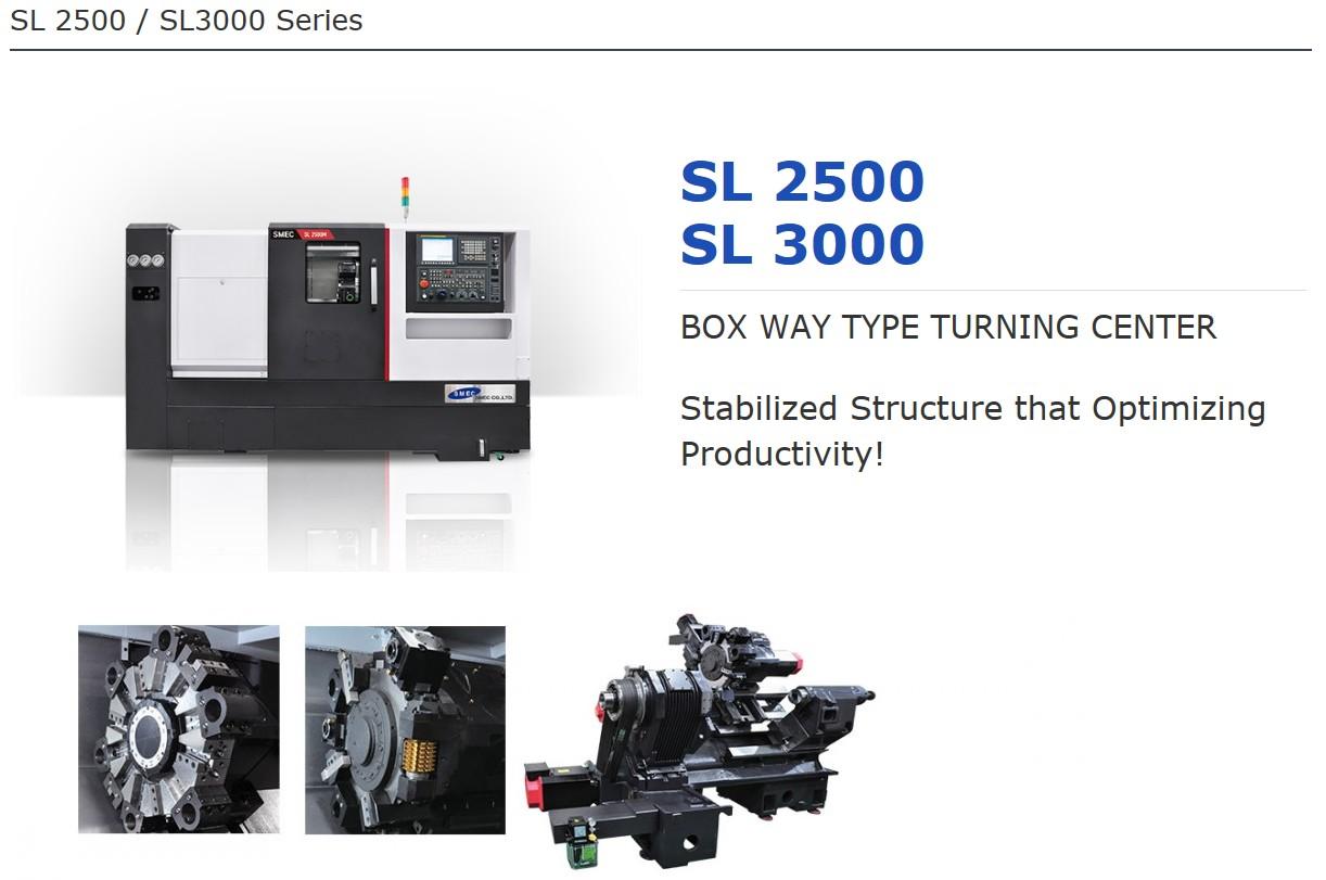 SMEC Box Way Type Turning Center SL-Series