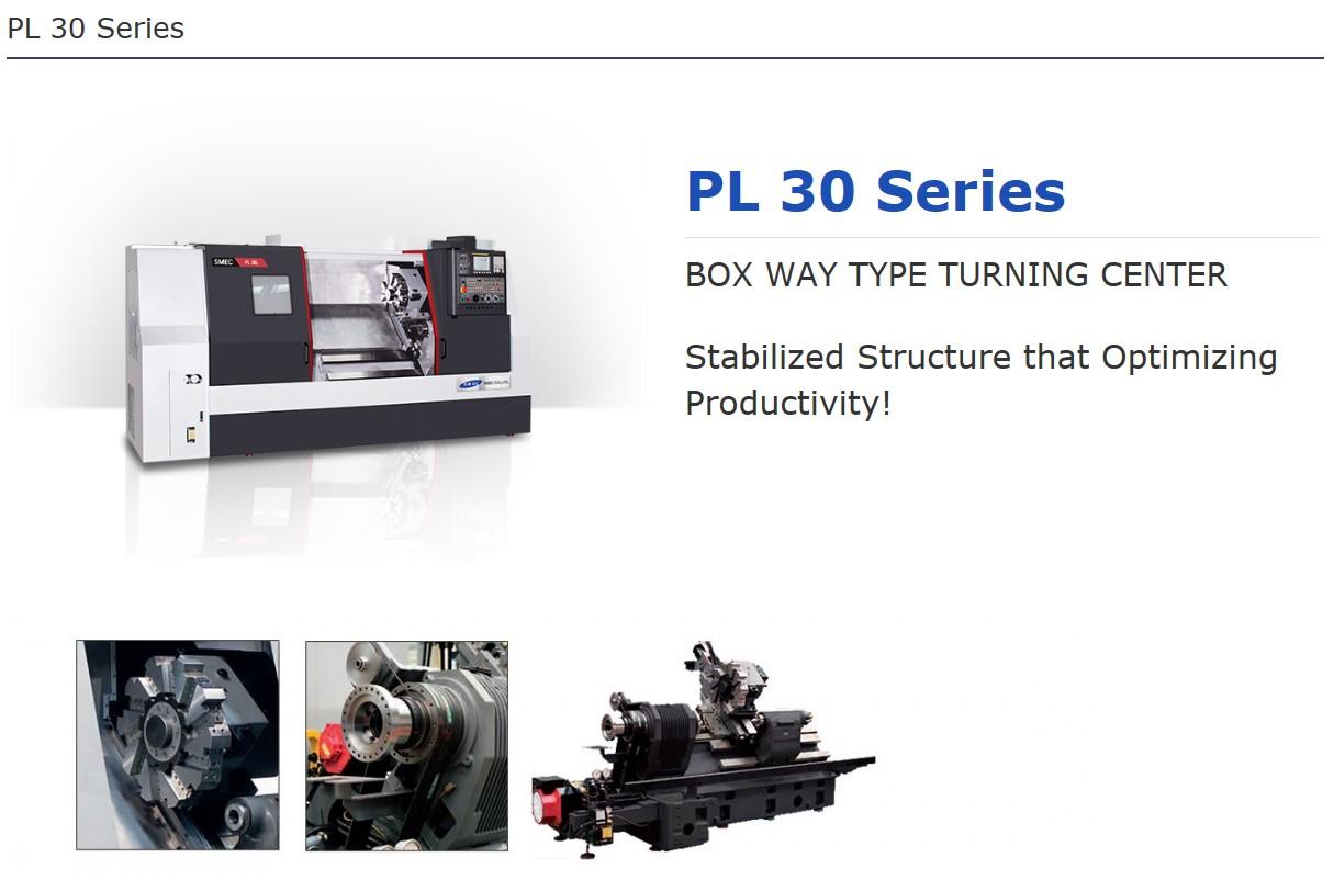 SMEC Box Way Type Turning Center PL 30 Series