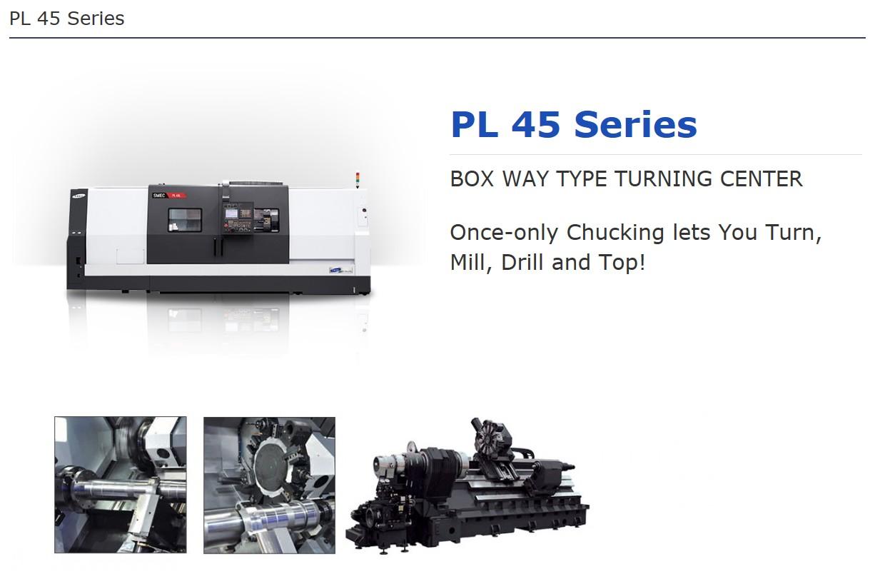 SMEC Box Way Type Turning Center PL 45 Series