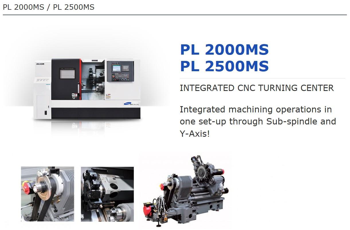 SMEC Integrated CNC Turning Center PL 2000MS, PL 2500MS