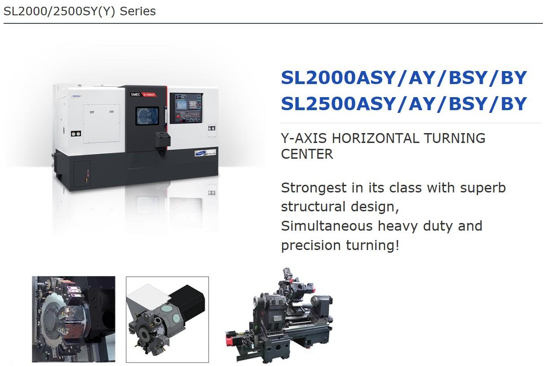 SMEC Y-Axis Horizontal Turning Center SL-Series